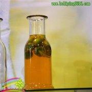 春夏冰橘茶瓶 吸管玻璃瓶350ml