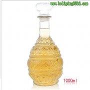 1000ml无铅玻璃红酒泡酒瓶 酿酒储存密封玻璃瓶