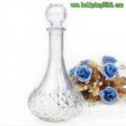 800ml高档钻石玻璃红酒泡酒瓶 水晶泡酒瓶