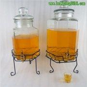 加厚玻璃泡酒瓶 玻璃酒坛 六角葡萄酒酿酒缸 果汁鼎缸