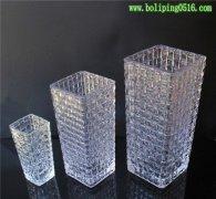 藤编方形玻璃花瓶批发 水晶玻璃花瓶 水培花瓶 花器 迷你形花瓶