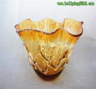 流行时尚玻璃工艺品玻璃摆件拉丝玻璃水果盘玻璃花瓶家居摆件