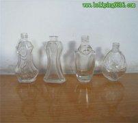 透明玻璃红花油瓶 小口玻璃瓶