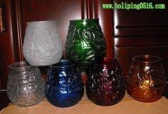八段玻璃烛台