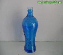 蓝色深加工玻璃瓶酒瓶 高档玻璃酒瓶 彩色玻璃酒瓶 玻璃酒瓶