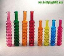 木塞玻璃瓶 彩色深加工木塞瓶 创意饮料瓶