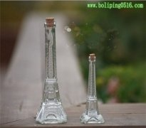 深加工玻璃工艺瓶 仿埃菲尔铁塔玻璃瓶