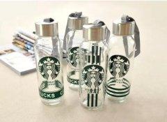 时尚玻璃水杯 个性化印花包装 玻璃瓶批发