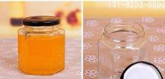 六棱玻璃瓶酱菜瓶_六棱形果酱瓶_六棱蜂蜜瓶