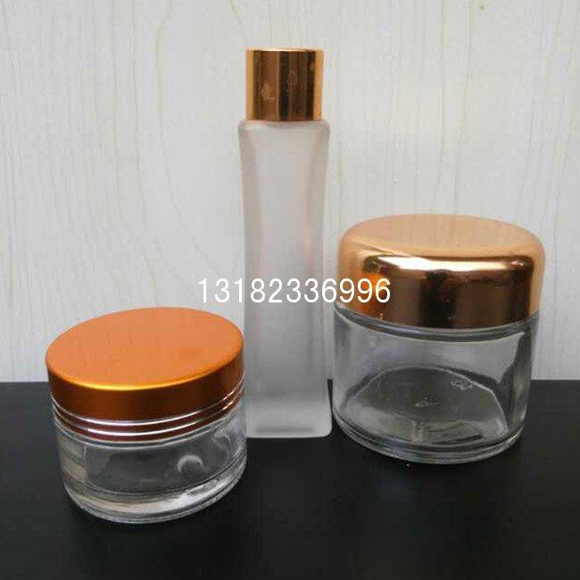化妆品包装玻璃瓶套装30g-50g 40ml-120ml