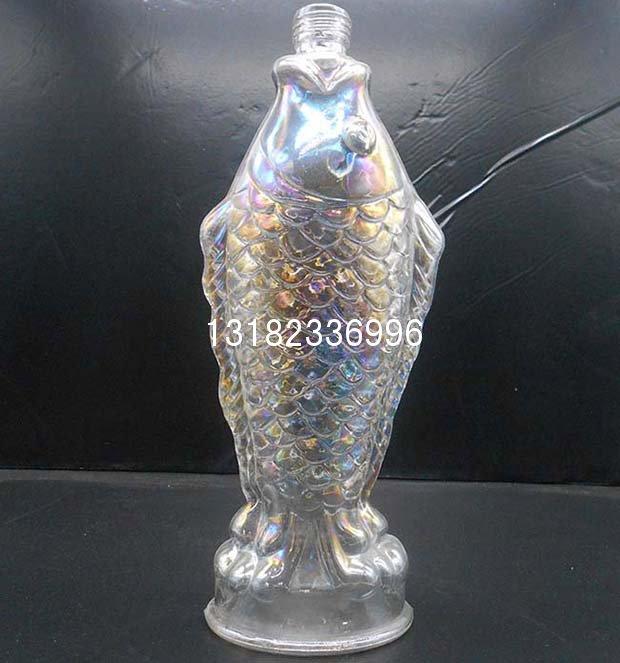 艺术鱼瓶_鱼瓶酒瓶